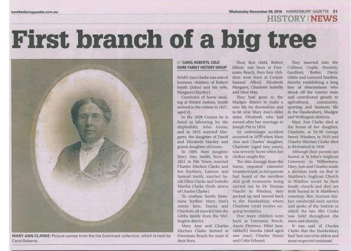 Mary Ann Clarke Gazette.jpg