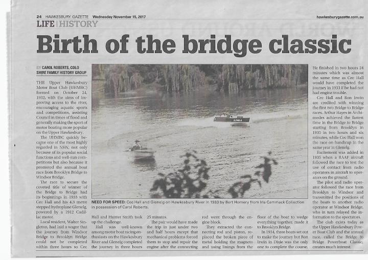Birth of Bridge to Bridge