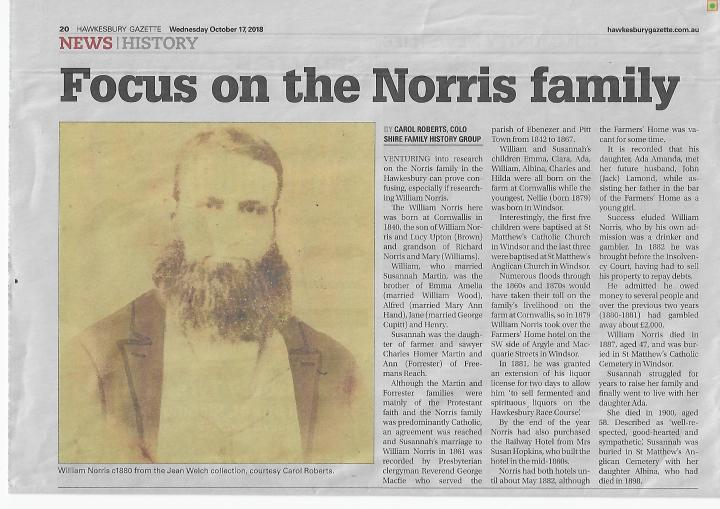 Focus on Norris family
