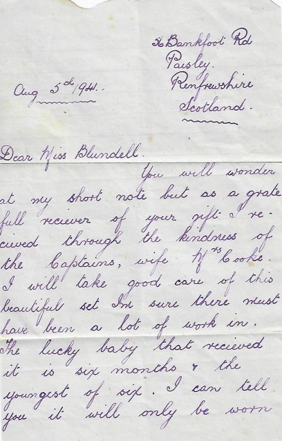 letter 1 Pearl Blundell